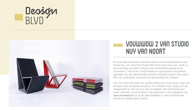 VOUWWOW 2 featured on Design BLVD